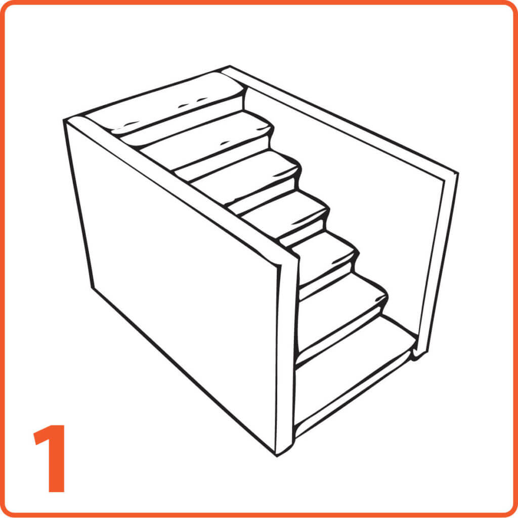 schody mikrocement dwie ściany pełne stopnie