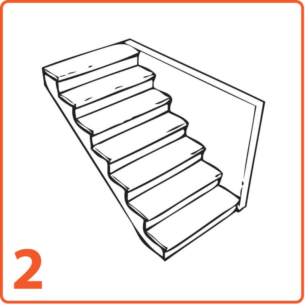 schody mikrocement jedna ściana pełne stopnie