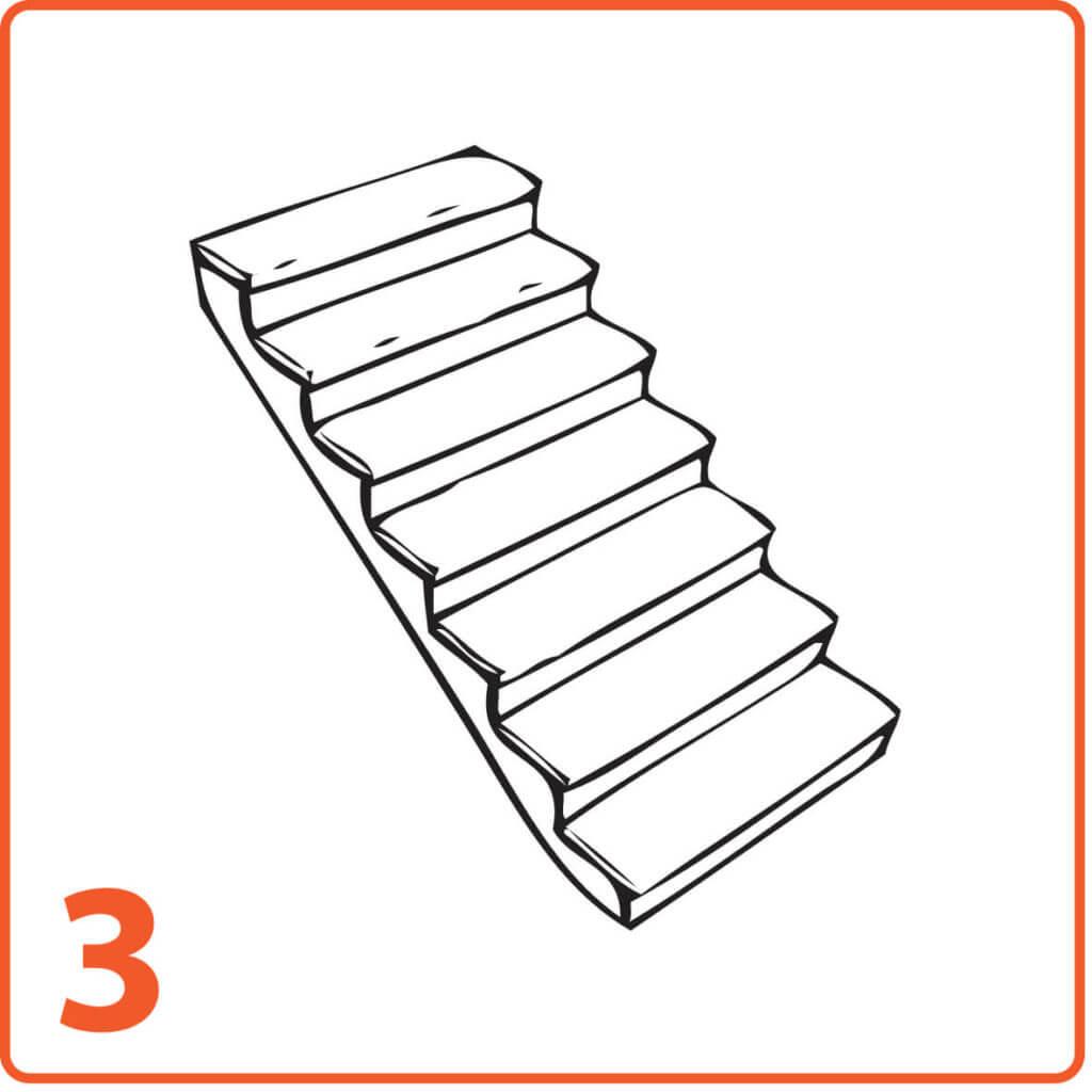 schody mikrocement bez ścian pełne stopnie