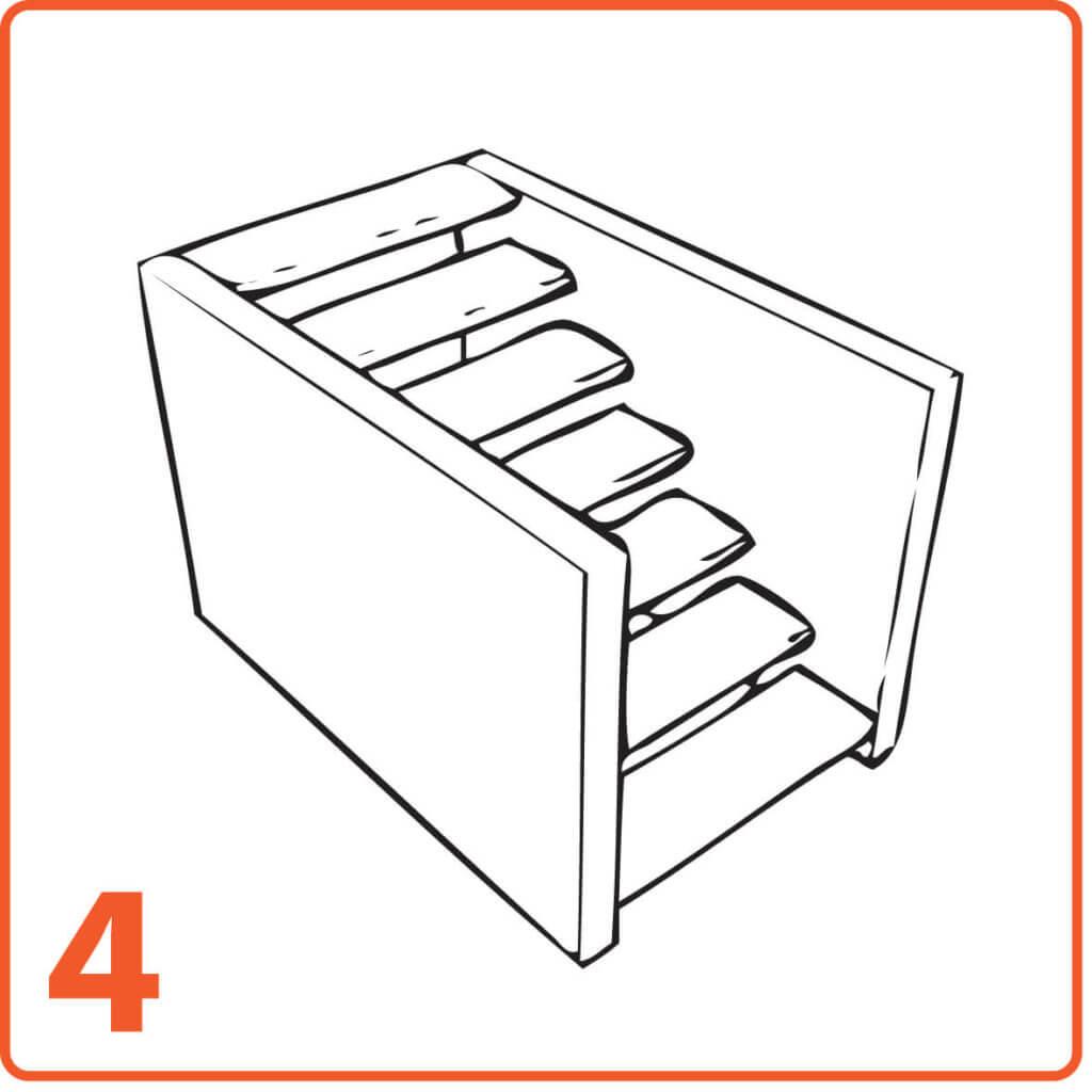 schody mikrocement dwie ściany bez podstopnic