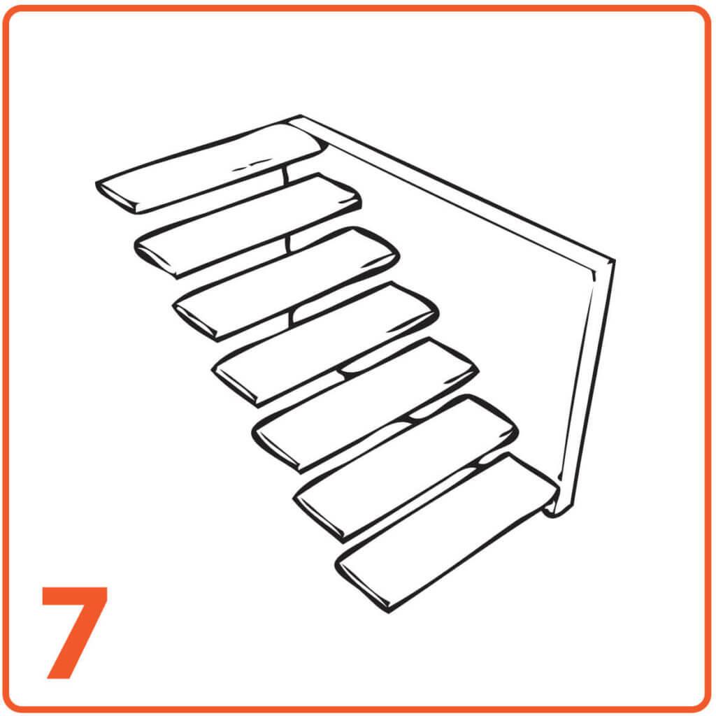 schody mikrocement jedna ściana bez podstopnic