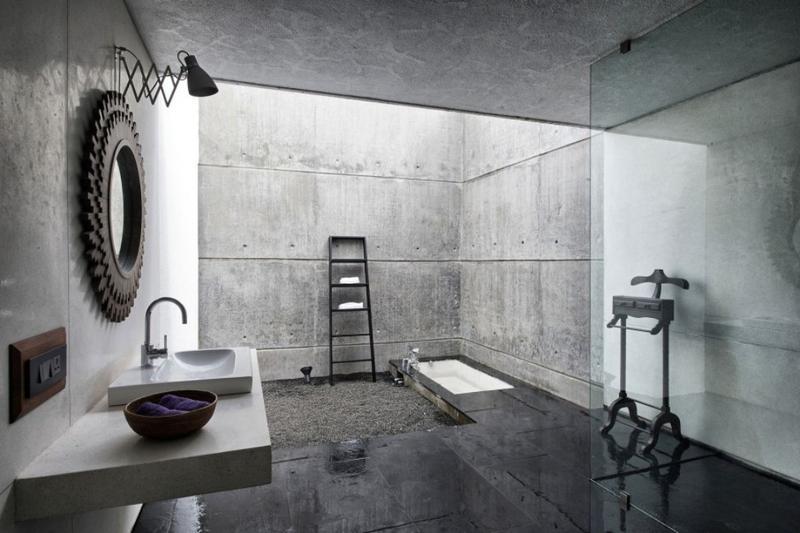 płyty z betonu architektonicznego w łazience