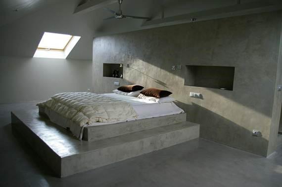 Bardzo dobra Beton architektoniczny w sypialni? Tak! Inspiracje i porady IV03