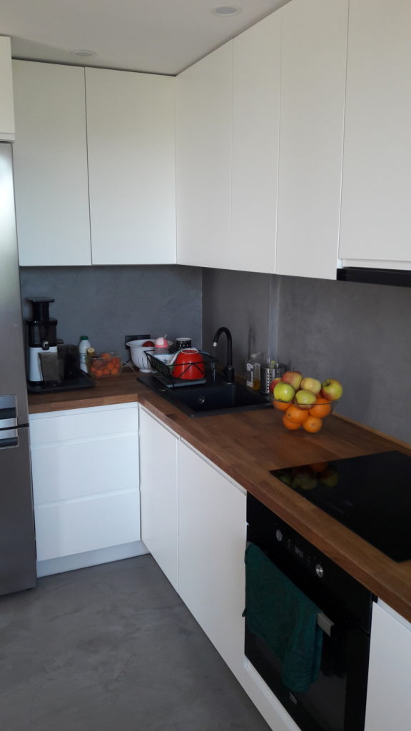 microcement kitchen renovation