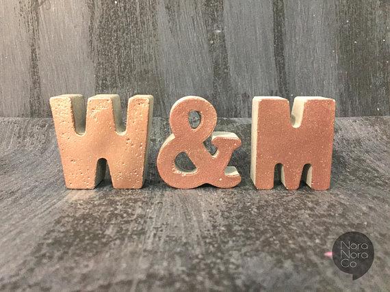 concrete wedding ideas - concrete letters