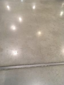 polished concrete floor dilatation