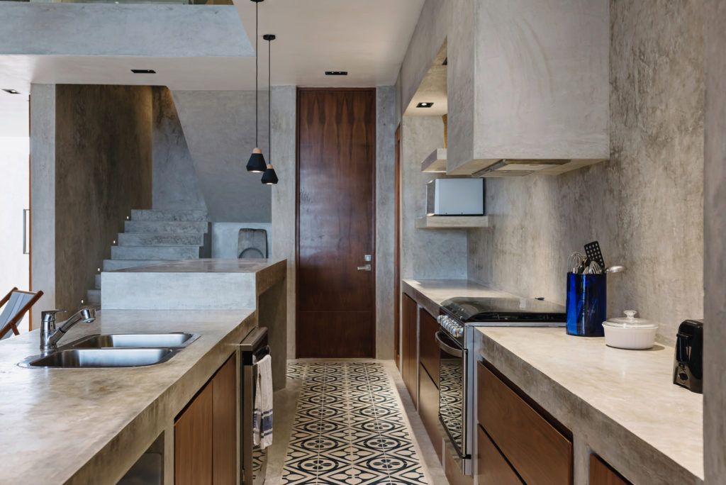 Beton dekoracyjny w kuchni