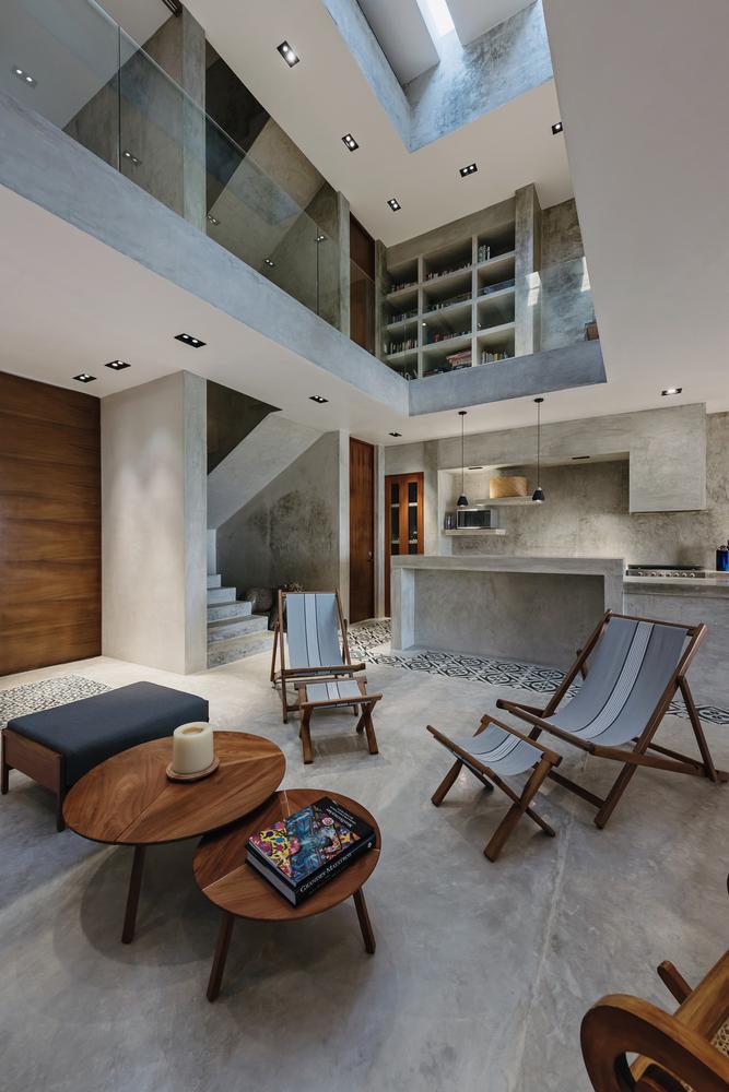 Projekt domu z betonem