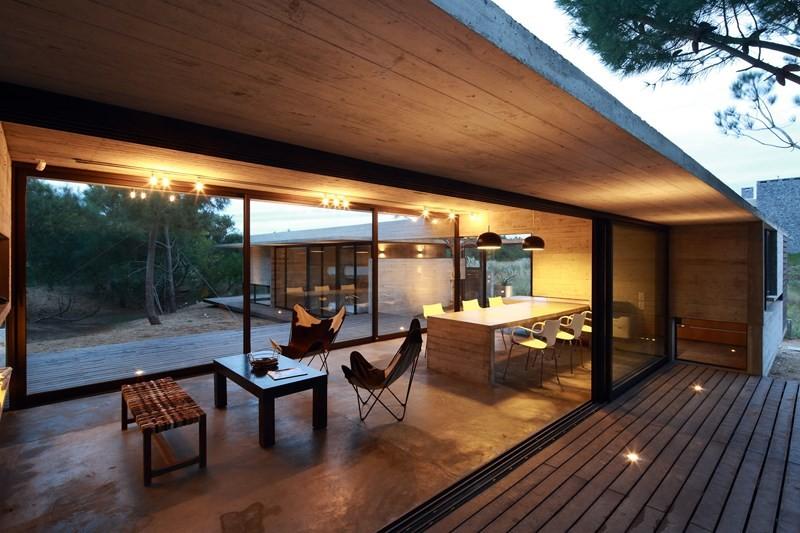Dom z betonu - taras