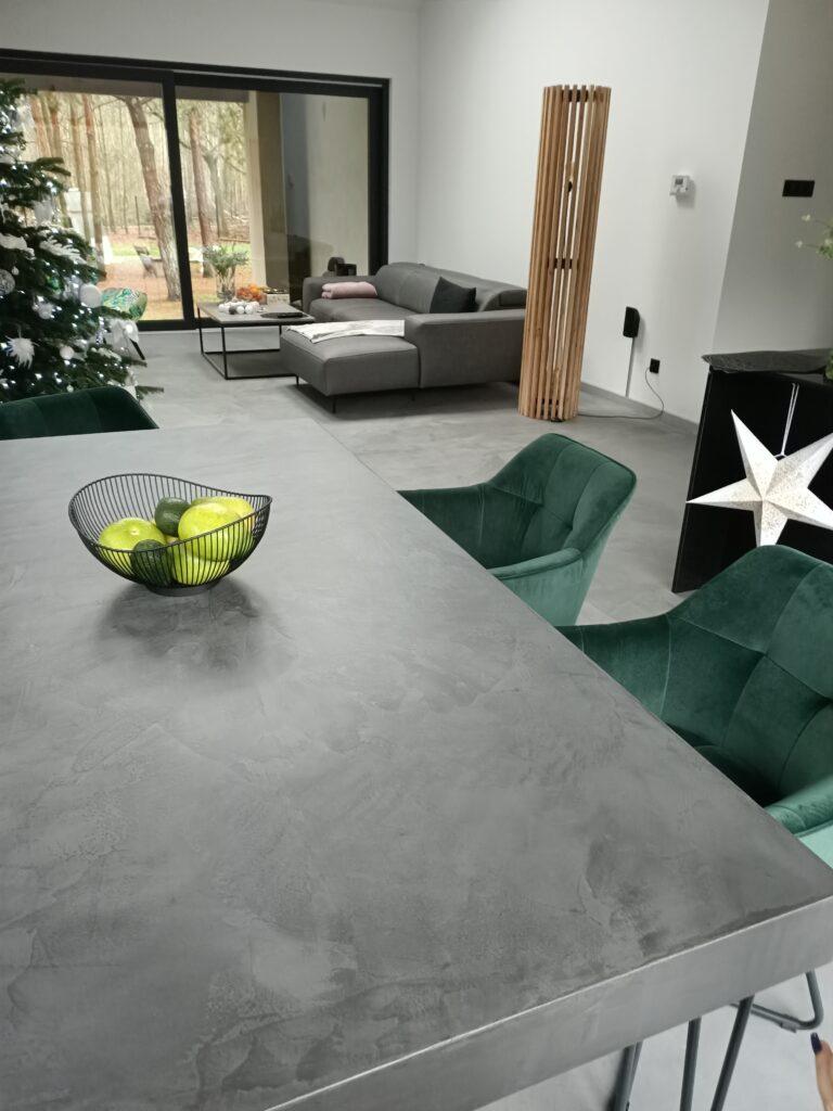 betonowy stół DIY