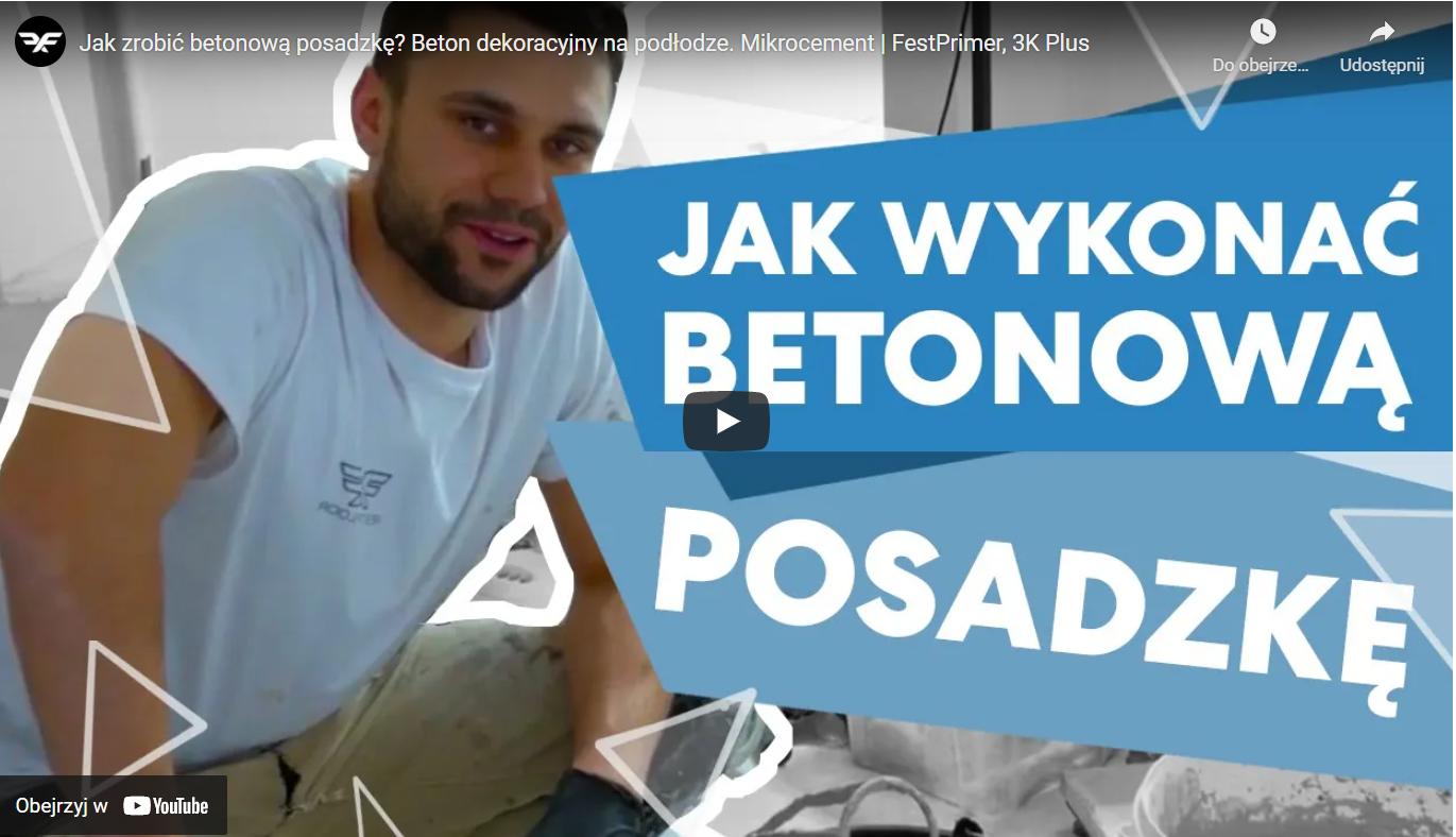 Jak wykonać betonową posadzkę - Film na Youtube